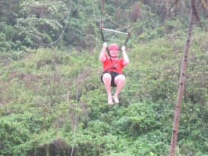 My husband on his Zipline adventure.