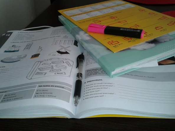 My learning materials. That is how messy I am when I am studying.