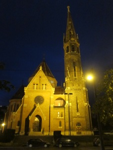 Calvinist Church Budapest, Hungary-night photo