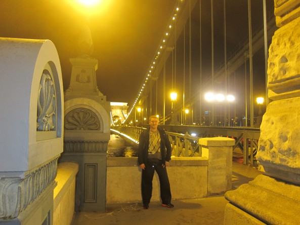 My loving husband at Chain Bridge