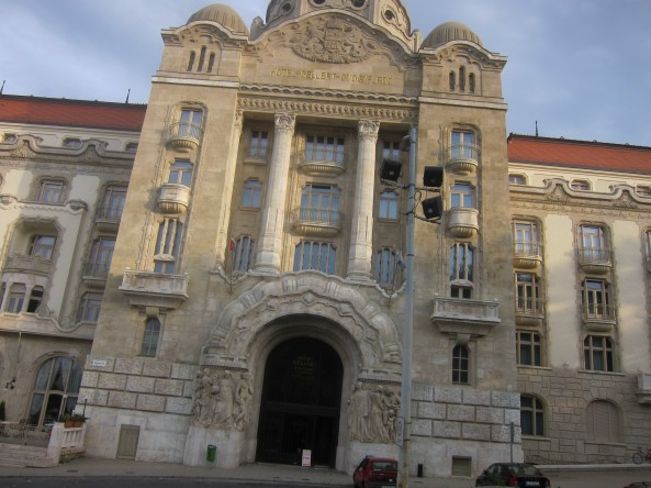 Gellért Hotel Budapest, Hungary. Sorry about the photo. It isn't a good one.